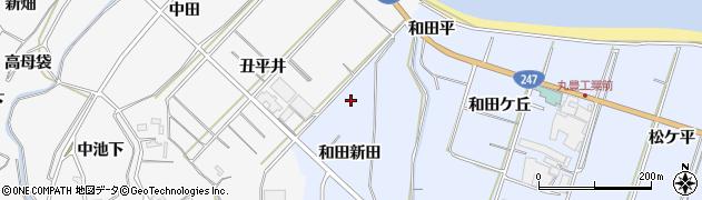 愛知県南知多町(知多郡)大井(和田新田)周辺の地図