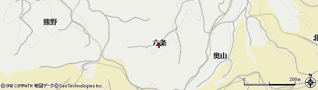 愛知県南知多町(知多郡)内海(六条)周辺の地図