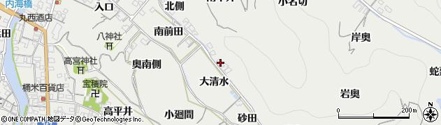 愛知県南知多町(知多郡)内海(奥側)周辺の地図