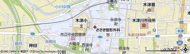 京都府木津川市木津町周辺の地図