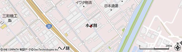 愛知県豊橋市神野新田町(ホノ割)周辺の地図