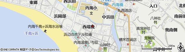 愛知県南知多町(知多郡)内海(西端後)周辺の地図