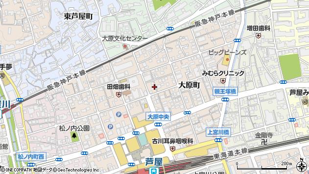 〒659-0092 兵庫県芦屋市大原町の地図