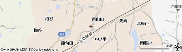 京都府木津川市加茂町観音寺(西山田)周辺の地図