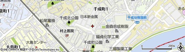 大阪府豊中市千成町周辺の地図