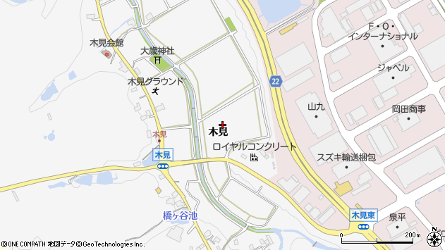 〒651-2223 兵庫県神戸市西区押部谷町木見の地図