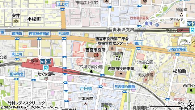 〒662-0000 兵庫県西宮市(以下に掲載がない場合)の地図