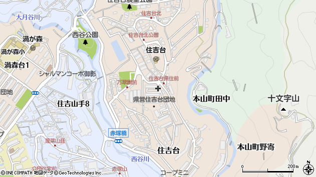 〒658-0062 兵庫県神戸市東灘区住吉台の地図