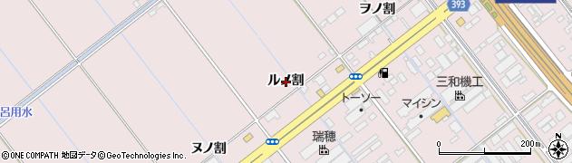 愛知県豊橋市神野新田町(ルノ割)周辺の地図