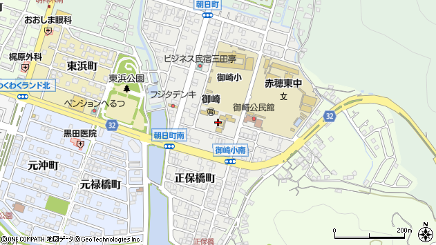〒678-0214 兵庫県赤穂市朝日町の地図