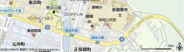 兵庫県赤穂市朝日町周辺の地図