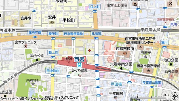 〒662-0971 兵庫県西宮市和上町の地図