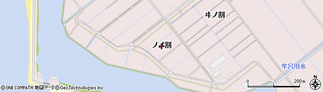 愛知県豊橋市神野新田町(ノノ割)周辺の地図