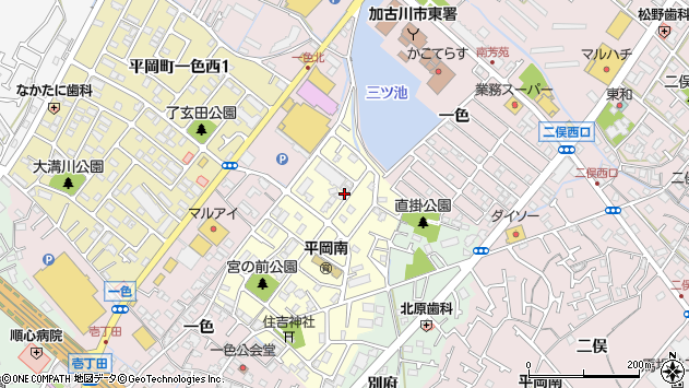 〒675-0116 兵庫県加古川市平岡町一色東の地図