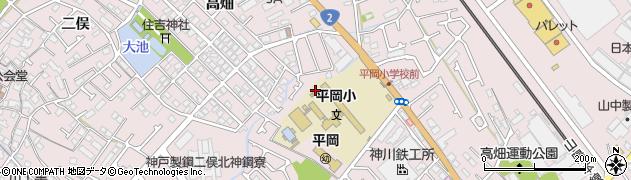 兵庫県加古川市平岡町周辺の地図