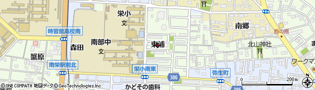 愛知県豊橋市北山町(東浦)周辺の地図