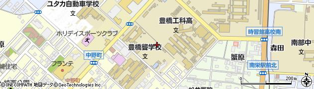 愛知県豊橋市草間町(平東)周辺の地図