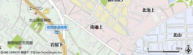 愛知県豊橋市飯村町(南池上)周辺の地図