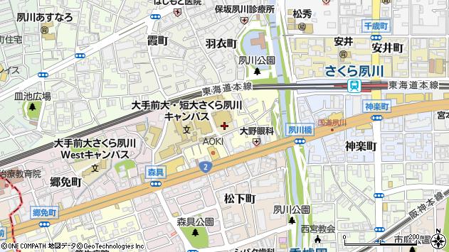 〒662-0961 兵庫県西宮市御茶家所町の地図