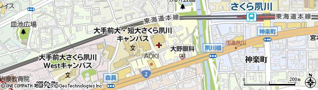 兵庫県西宮市御茶家所町周辺の地図