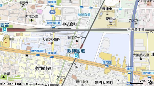 〒663-8241 兵庫県西宮市津門大塚町の地図