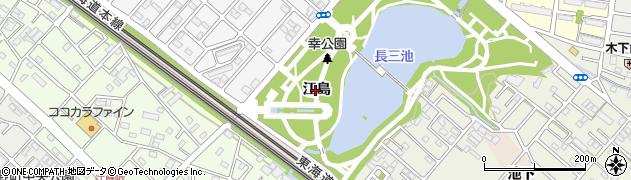 愛知県豊橋市佐藤町(江島)周辺の地図