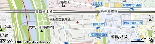 兵庫県尼崎市稲葉荘4丁目周辺の地図