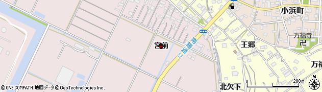 愛知県豊橋市神野新田町(宮前)周辺の地図