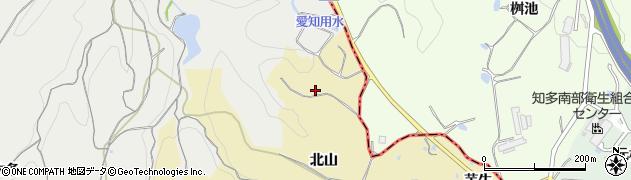 愛知県南知多町(知多郡)山海(北山)周辺の地図