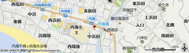 愛知県南知多町(知多郡)内海(中浜田)周辺の地図