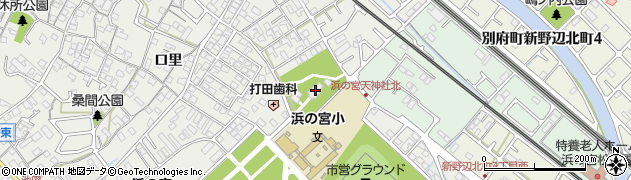 浜の宮神社周辺の地図