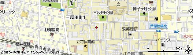 兵庫県尼崎市三反田町2丁目周辺の地図