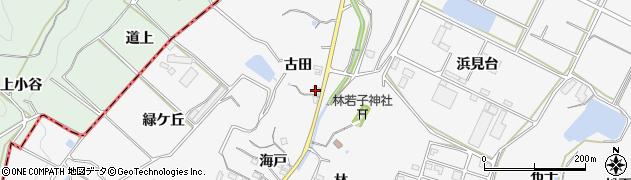 愛知県南知多町(知多郡)豊丘(古田)周辺の地図