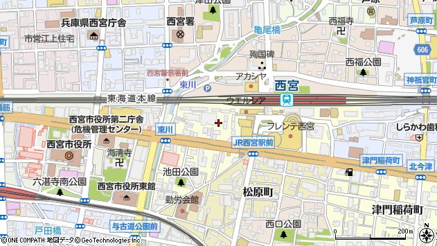 〒662-0911 兵庫県西宮市池田町の地図
