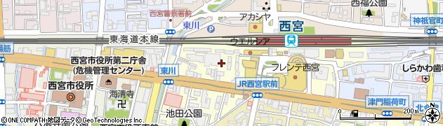 兵庫県西宮市池田町周辺の地図