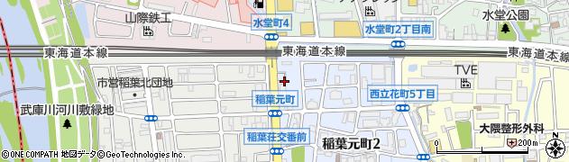 兵庫県尼崎市稲葉元町1丁目周辺の地図