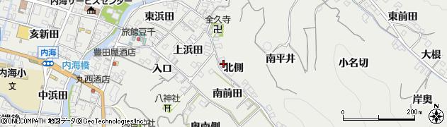 愛知県南知多町(知多郡)内海(北側)周辺の地図