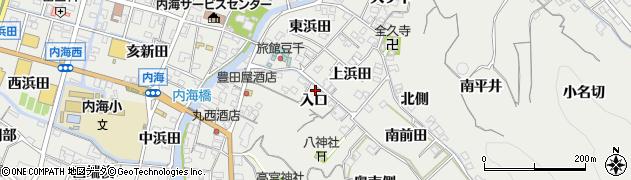 愛知県南知多町(知多郡)内海(入口)周辺の地図