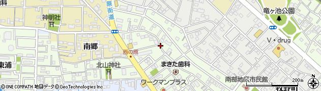 愛知県豊橋市北山町周辺の地図