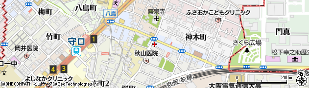 大阪府守口市竜田通周辺の地図