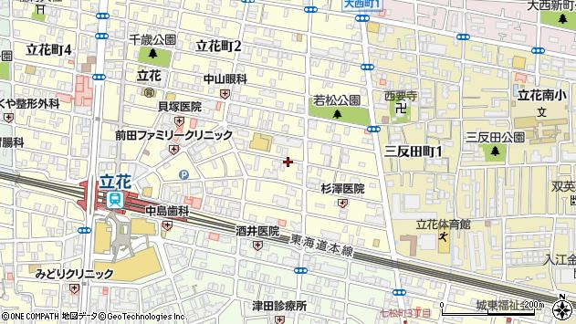 〒661-0025 兵庫県尼崎市立花町の地図