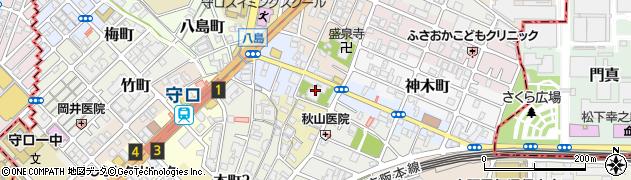 難宗寺周辺の地図