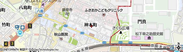 大阪府守口市神木町周辺の地図