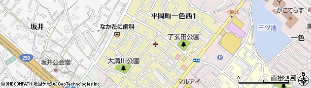 兵庫県加古川市平岡町一色西周辺の地図