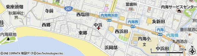 愛知県南知多町(知多郡)内海(中浜)周辺の地図