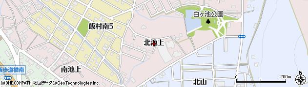 愛知県豊橋市飯村町(北池上)周辺の地図
