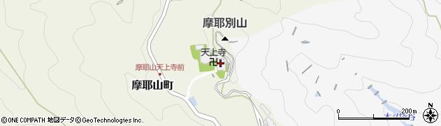 摩耶山天上寺周辺の地図