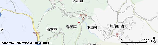 京都府木津川市加茂町南下手(湯屋尻)周辺の地図