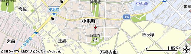 愛知県豊橋市小浜町周辺の地図