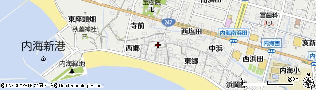 愛知県南知多町(知多郡)内海(西郷)周辺の地図